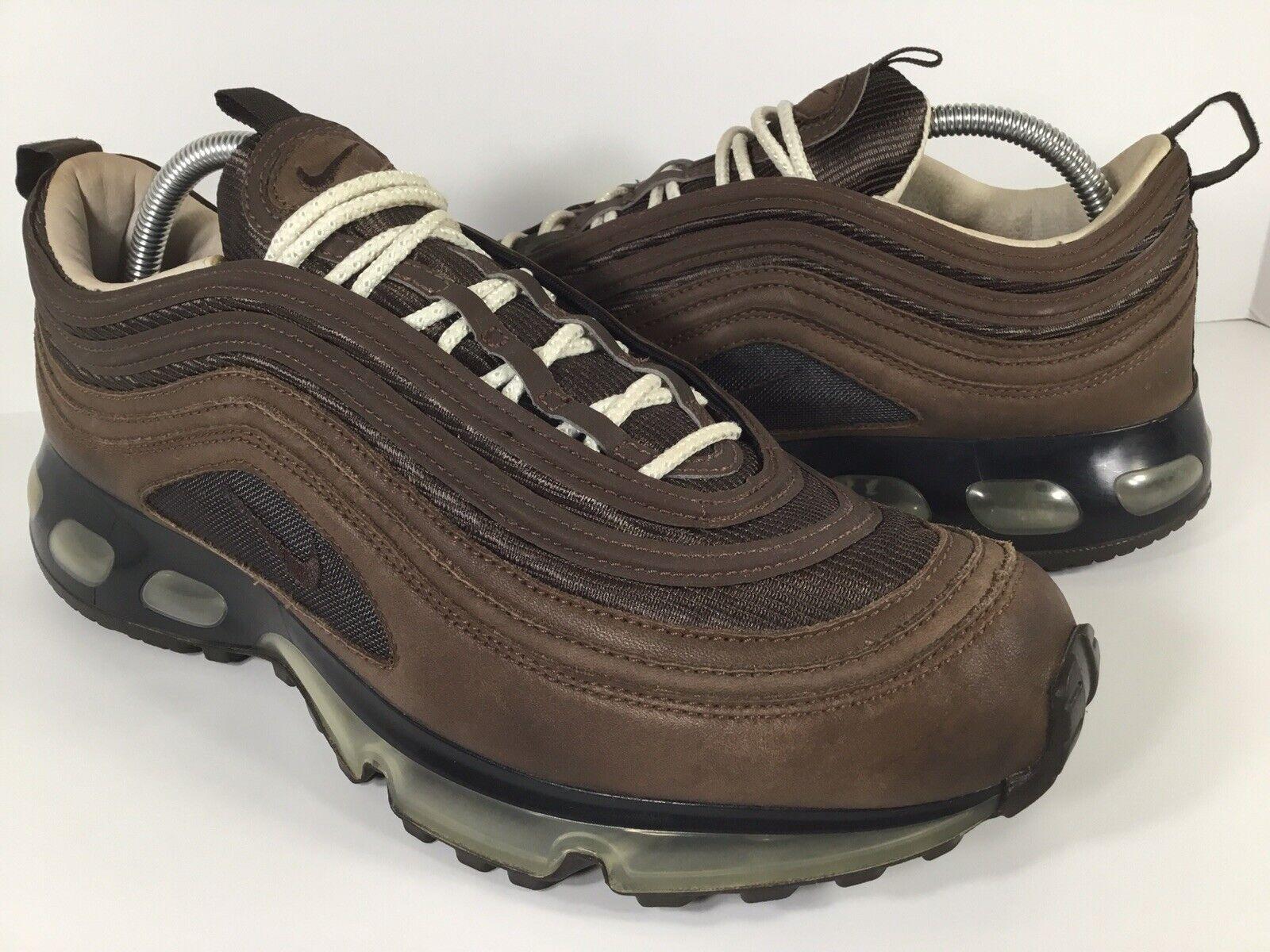 Nike Air Max 97 360 Brown Beige Black White 2006 Mens Size 10.5 Rare 315349-221