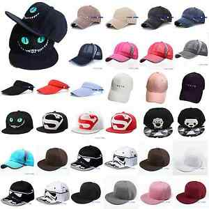 Herren-Damen-Baseball-Cap-Basecap-Mutze-Snapback-Hute-Hut-Sports-Kappe-Trucker