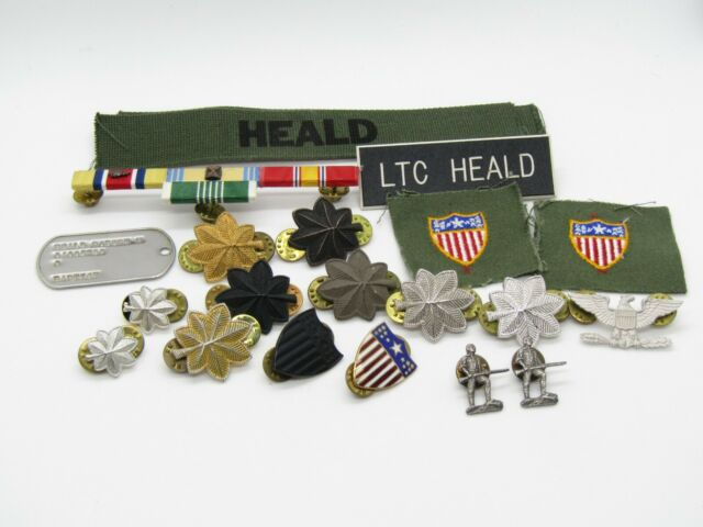 Vietnam War Army Lt Colonel Dog Tag, Major & Colonel Insignia, Patches & Dog Tag