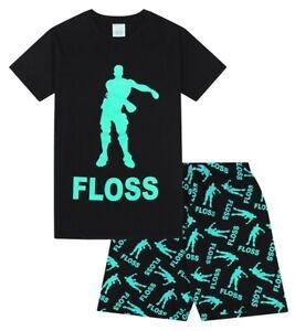 Floss-Dance-Gaming-Black-Green-Cotton-short-Pyjamas