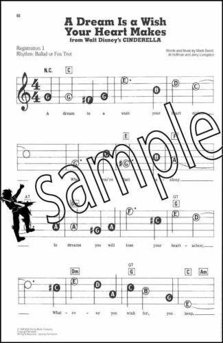 Disney Favorites Mini E Z Play Today Keyboard Music Book Organ Very Easy