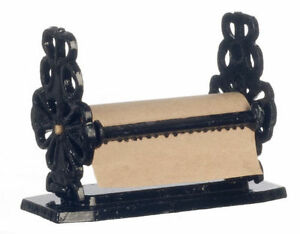 Dolls-House-Large-Wrought-Iron-Paper-Towel-Holder-Miniature-Accessory