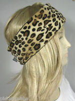 Headband Reversible Animal Print Brown Ear Warmers Head Wrap Hairband