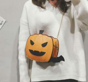 Halloween-Pumpkin-Shaped-Demon-Messenger-Shoulder-Bag-Purse-Handbag-Women-039-s-Gift
