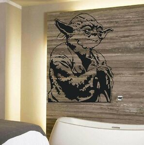 Image Is Loading LARGE YODA STAR WARS STARWARS WALL STICKER NEW  Part 57