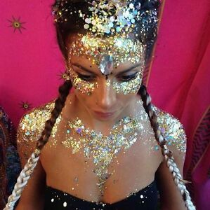 10 glitter pots festival sparkly rainbow sequins nail art