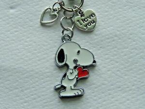 Peace /& Love Snoopy Keychain