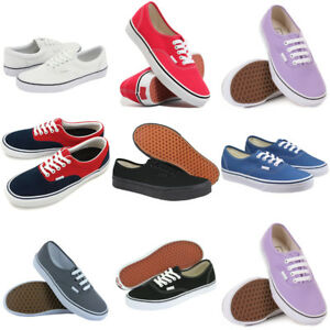 Mens-Womens-Classic-Canvas-Casual-Flat-Low-Shoes-Trainers-Sneakers-Size-Lot-V1
