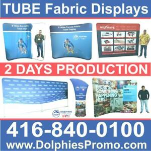Portable Trade Show 10 TUBE Tension Fabric Backdrop Display + Dye-Sublimation Fabric Graphics by DolphiesPromo.com Toronto (GTA) Preview