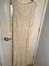 JS collections size 14 white dress Soutache Gown