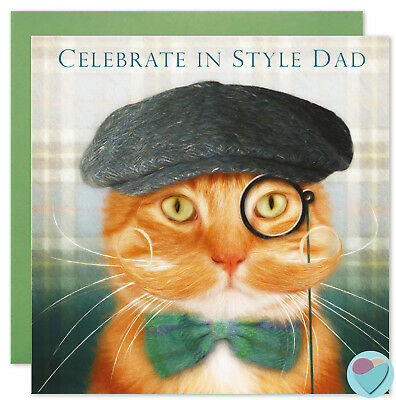 Boyfriend Birthday Love Anniversary Card for Ginger Tabby Cat Lover Juniperlove