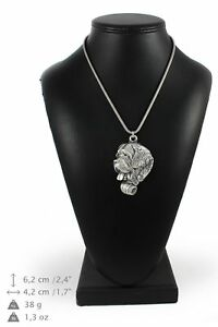 St-Bernard-silver-plated-pendant-on-the-silver-chain-Art-Dog-IE