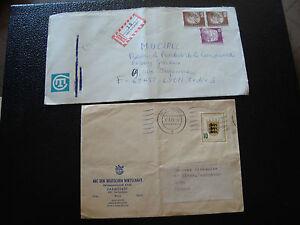 Germany-Rfa-2-Envelopes-1955-1981-cy13-Germany