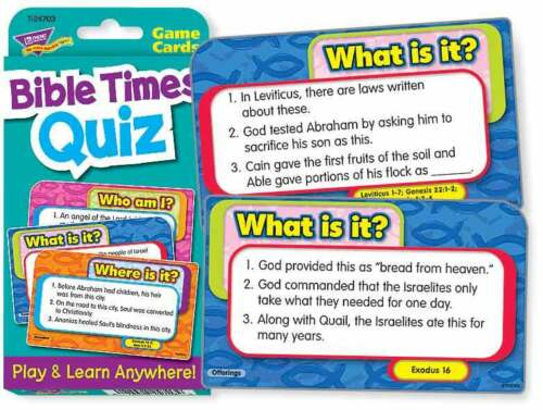 TREND kids childrens Bible times quiz Challenge Card RE educational Game