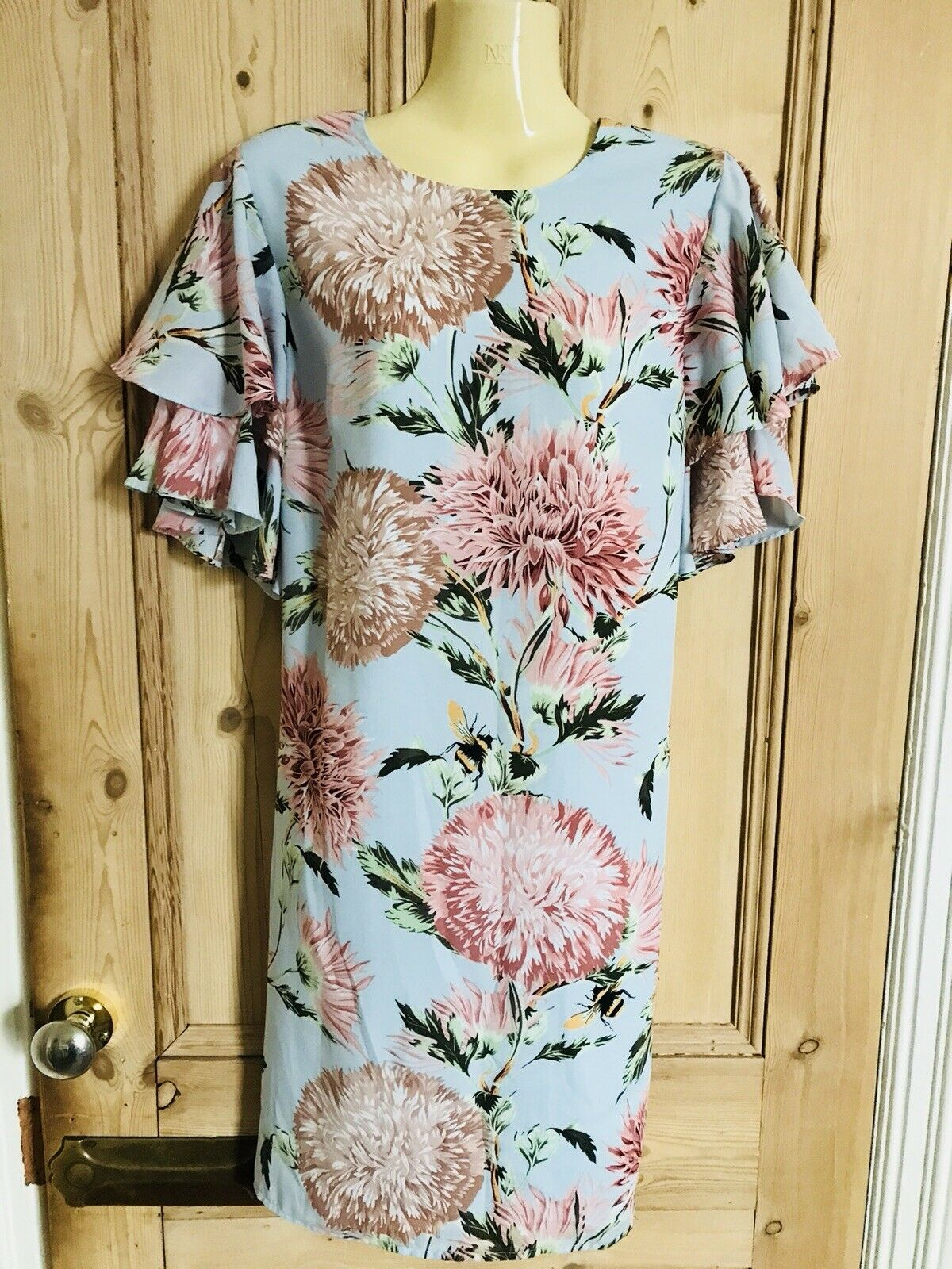 BNWOT WAREHOUSE SIZE 12 Summer Floral Print Floaty Shift Dress