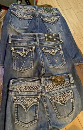 Miss Me Bermuda Shorts Denim Embellished Pockets 3