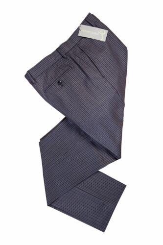 NUOVISSIMA LINEA UOMO matrimonio nero grigio Massoni massonica Stripe Ascot Abito Pantaloni