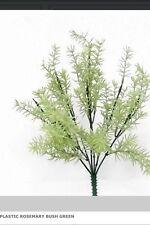 Rosemary Bush Herb Plant Plastic Fake Greenery Spray Christmas Flowers Bunch Pot