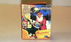 1:12 SCALE MINIATURE BOOK THE NIGHT BEFORE CHRISTMAS 1907 DOLLHOUSE SCALE