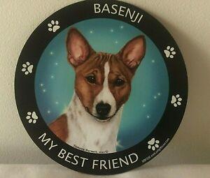 BASENJI ( RED & WHITE )  DOG MAGNETIC MAGNET ~ NEW~ MADE IN USA.