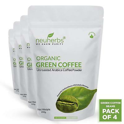 Neuherbs Green Coffee Beans Powder For Weight Loss 200g Pack Of 4