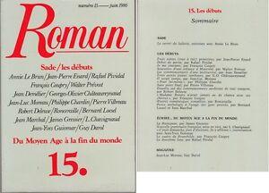 C1-ROMAN-Revue-15-1986-Coupry-SADE-LES-DEBUTS-du-MOYEN-AGE-a-la-FIN-DU-MONDE