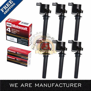 Set-of-6-Ignition-Coil-amp-6-Motorcraft-SP493-Spark-Plugs-For-Ford-Mazda-Mercury