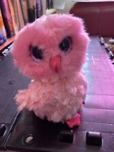 """TY Beanie BOO TWIGGY PINK OWL PLUSH 6/"""""""