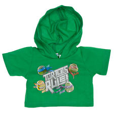 Build-A-Bear Teenage Mutant Ninja Turtles Green Hoodie 021718 NEW w/Tags