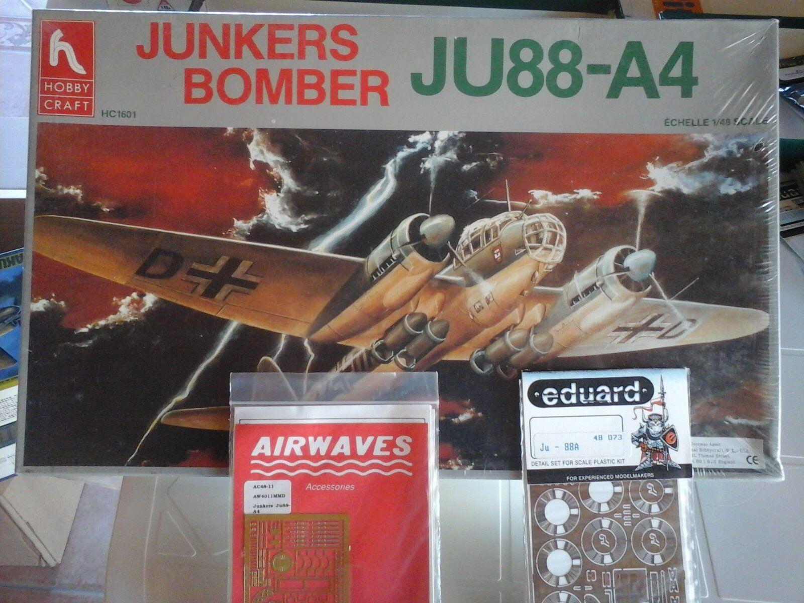 JUNKERS JU 88 A4 BOMBER 1/48 SCALE HOBBY CRAFT MODELN.2 PHOTOETCHED PARTS EDUAR | D'être Très Apprécié Et Loué Par Les Consommateurs