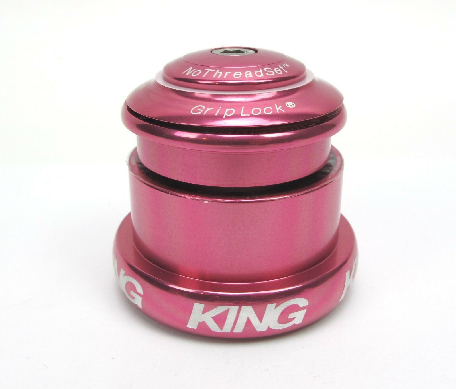 New Chris King Headset Inset I3 ZS44   EC49 Tapered - Pink  - 10 Year Warranty