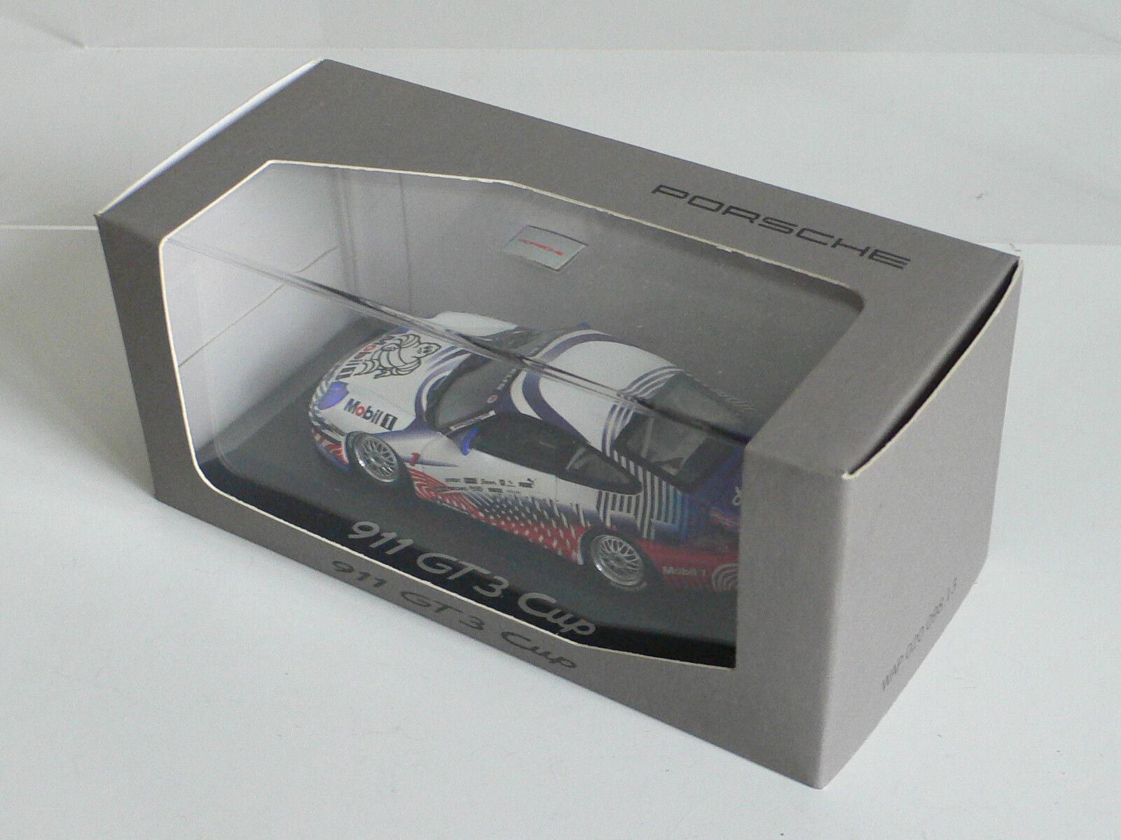Minichamps 1 43 Porsche 996 911 911 911 GT3 Cup Race Car Michelin Dealer Model Rare acf72e