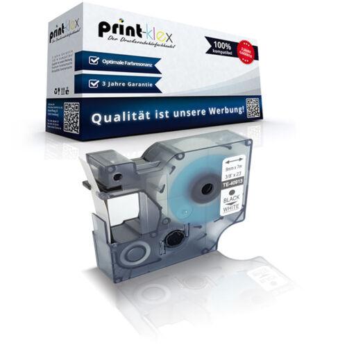 Kompatibles Schriftband für Dymo 40913 9mm Kassette Drucker Pro Serie