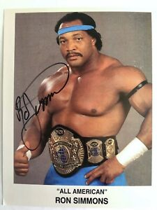 WWE-WCW-WWF-Ron-Simmons-Signed-8x10-Photo-Wrestling-Autograph-DAMN