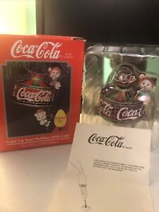 1993 Coca-Cola LIGHT UP YOUR HOLIDAYS WITH COKE Light Up Ornament by Enesco!