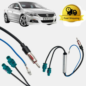 2-Diversity-Twin-Double-Dual-Fakra-Din-Aerial-Antenna-Adaptor-Lead-For-Audi-VW