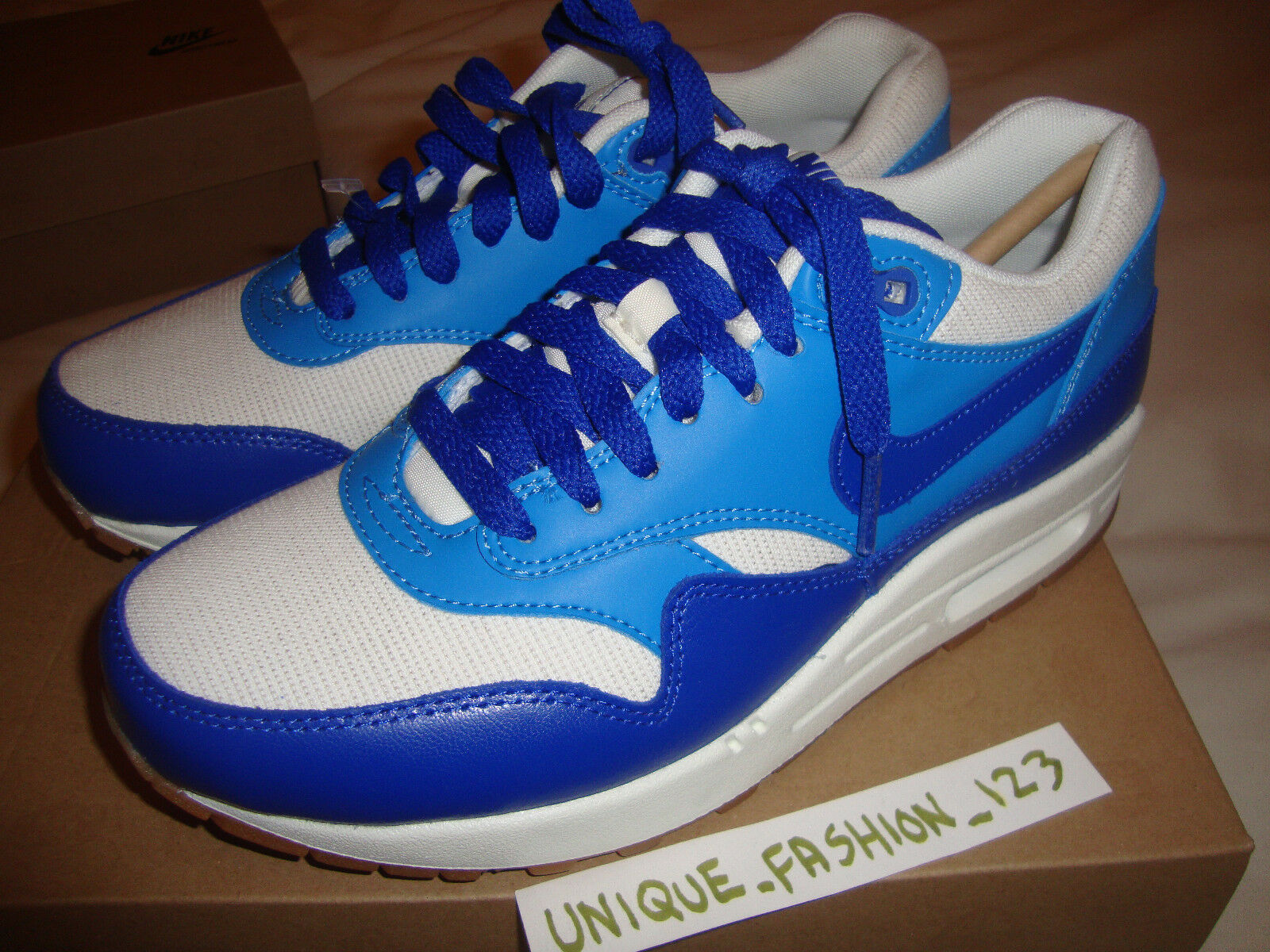 Wmns Nike Air Max 1 Vintage Hyper bleu US 8 UK 5.5 39 555284 -105 APC Liberty VT
