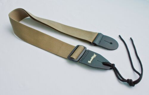 Guitar Strap TAN KHAKI Nylon Fits All Acoustic /& Electrics Made In USA Since 78