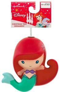 Hallmark-Disney-The-Little-Sirena-Ariel-Decoupage-Arbol-de-Navidad-Ornamento-Nwt