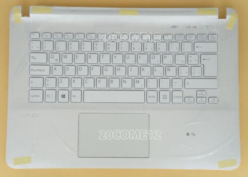 NEW FOR SONY VAIO FIT 14E SVF14E Keyboard Latin Spanish Palmrest Backlit white