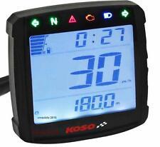 Koso Velocímetro XR01s luces de advertencia de nivel de combustible Voltímetro Sensor Velocidad de reloj