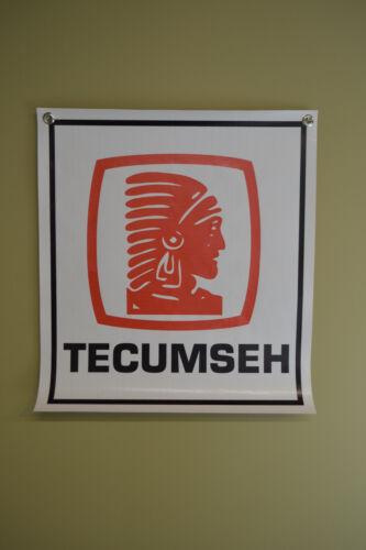 TECUMSEH Engine Banner Sign Mower Repair Shop GoKart Advertising Logo Free Ship
