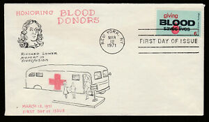 1425-Giving-Blood-First-Day-cover-with-Virgil-Crow-cachet