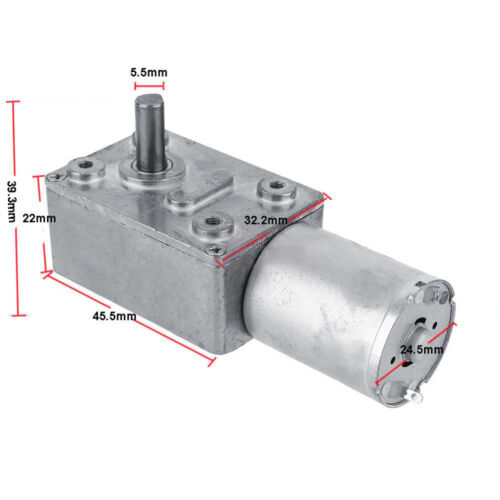 DC 12V 62RPM Worm Gear Reduction Motor Metal Gear Box Motor Reversible