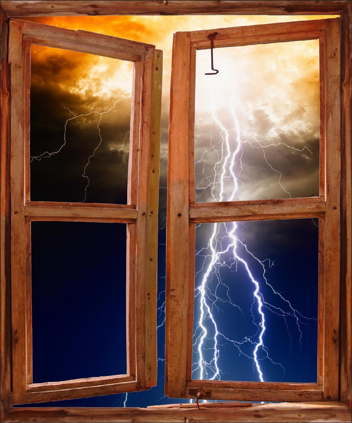 Aufkleber Fenster Schein Auge Deko Blitze Ref 5222