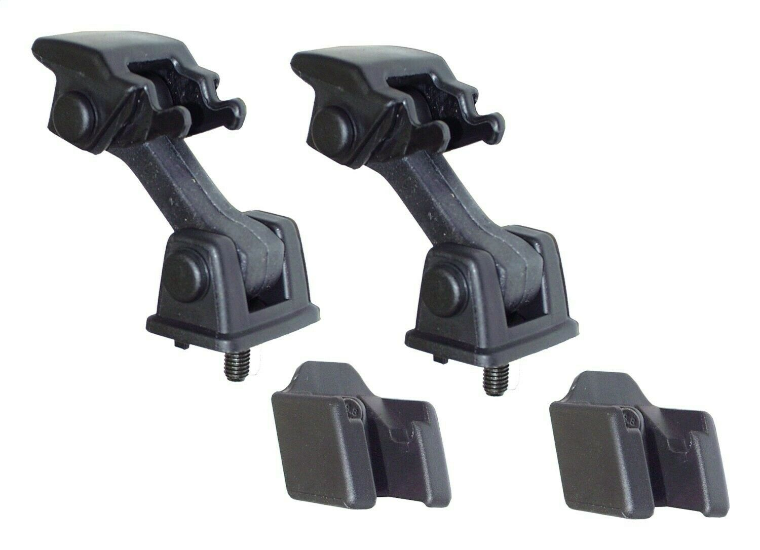 Rubber Jeep Black Crown Automotive 55176636K2 Hood Latches Pair 97-06 TJ
