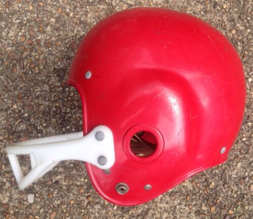 1960s PRO SPORTS MODEL 2006 YOUTH FOOTBALL HELMET, RED NUMBER 68, VINTAGE