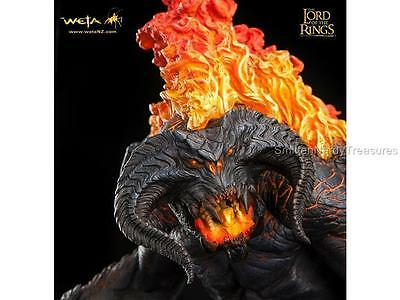 "WETA Lord Rings LOTR Deluxe 20.5"" BALROG Demon of SHADOW & FLAME Statue LE1500"