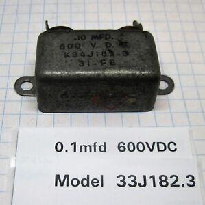 1MFD  @  400VDC 600 VDC Oil  CAPACITOR   p. 0.5 MFD 0.25MFD Aerovox  0.1 MFD
