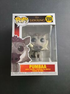 Pumbaa POP Vinyl Figure #550 Funko The Lion King Disney New! Collectible
